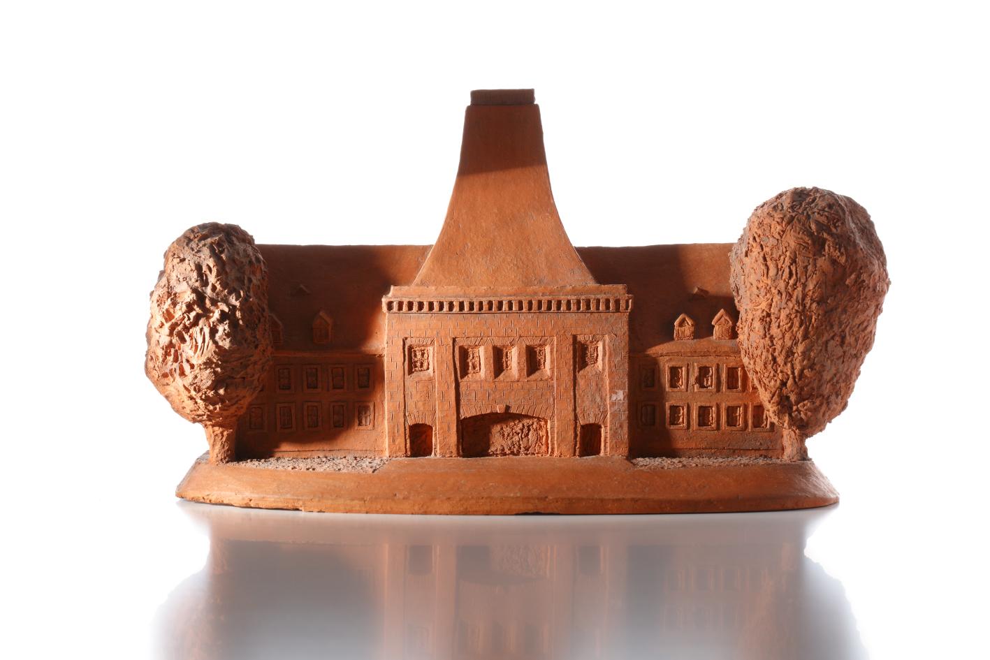 Modell des Hauptgebäudes der Universität Mainz
