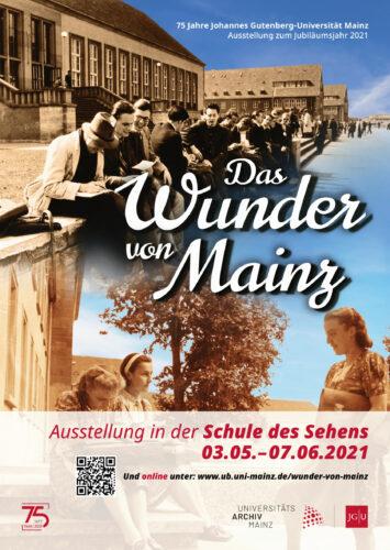 Veranstaltungsplakat zur Ausstellung Das Wunder von Mainz